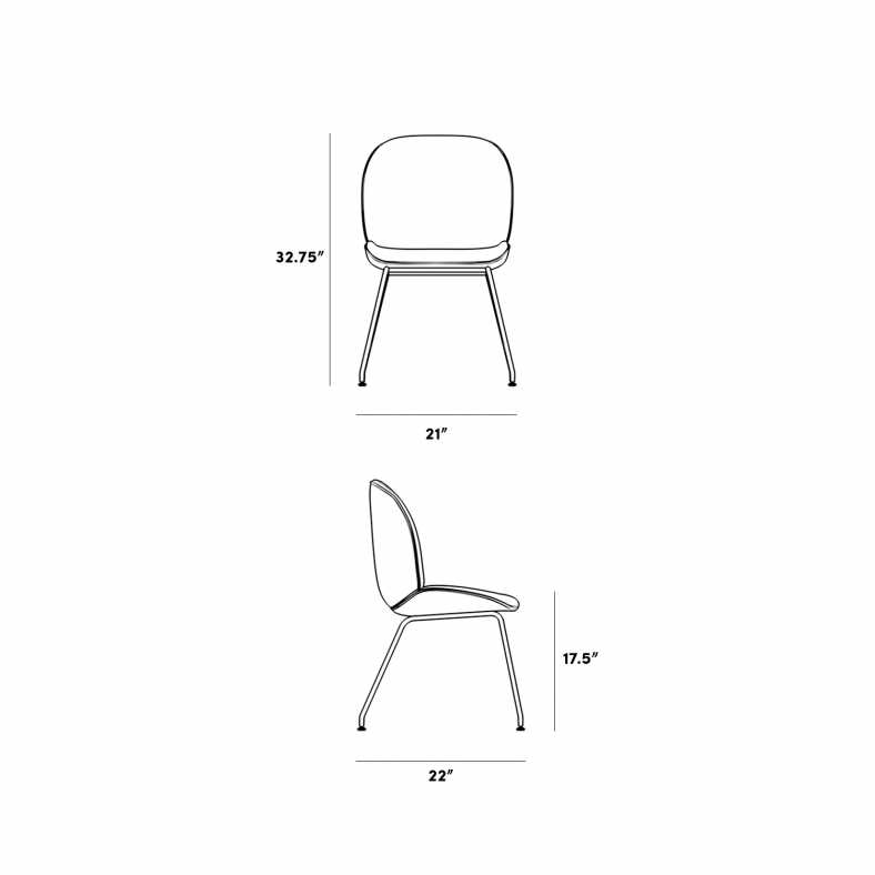 Dimensions for Zoey Side Chair