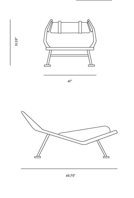 Dimensions for Flag Halyard Chair